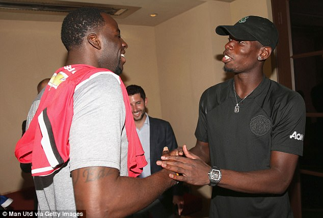 Mutual respect runs deep between the NBA's Green and France international Pogba