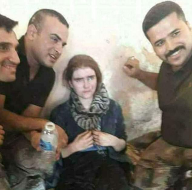 Linda (pictured, after she was captured) was among 20 ISIS followers seized after Mosul fell following a ten month battle which left 25,000 Jihadists dead
