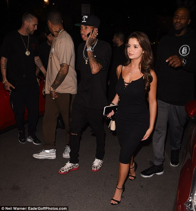 In the past: Demi was linked to US rapper - and ex-boyfriend of Kylie - Tyga, after they were spotted out and about in Los Angeles together in May last year
