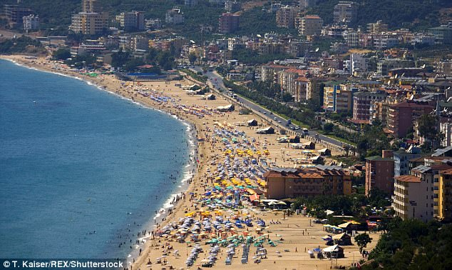 On the fourth night in Alanya (file picture) one of the girls claims she had to run away from a group of men on the beach