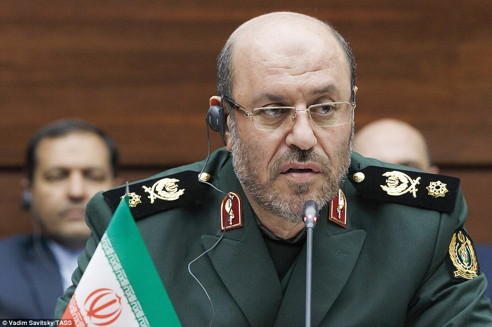 Iran's Defense Minister, General Hossein Dehghan, said the country was the 'protector of peace and security in the region'