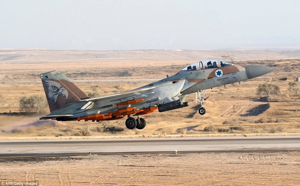 An Israeli Air Force F-15. Tensions between the two countries remain high, despite the Iranian nuclear deal in 2016