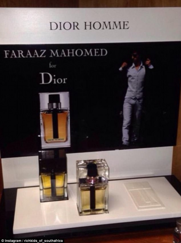 One Rich Kid had his own personalised Dior scent, which was shared on his page