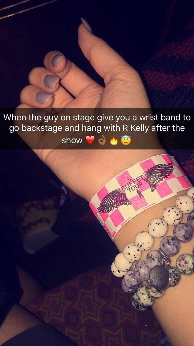 Image result for wrist band given to woman at arkelly concert
