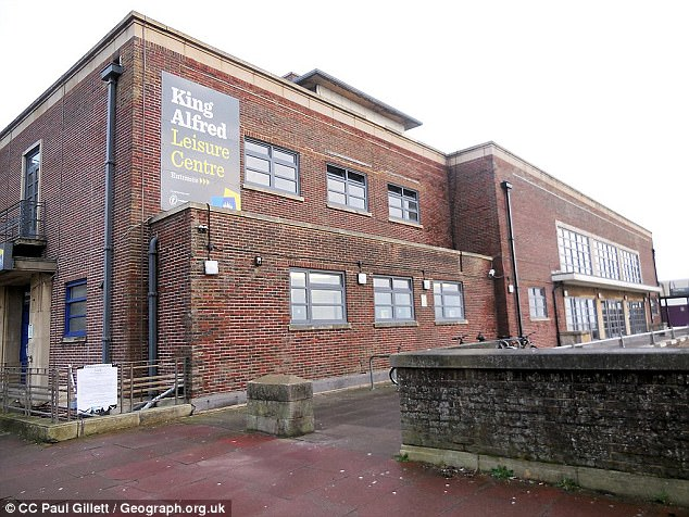 Hove Crown Court was told the teenage boy had gone to the gym at the King Alfred Centre in Hove (pictured), when he was raped