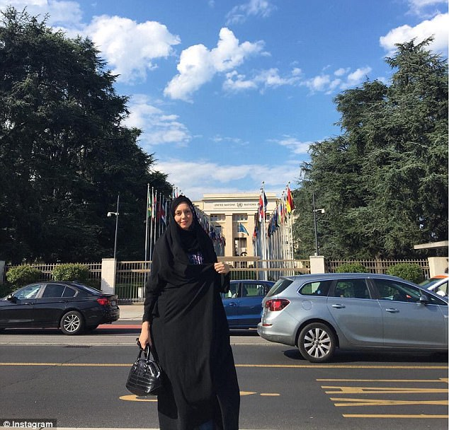 Last week Namdari posted a picture of herself outside the United Nations building in Geneva, Switzerland