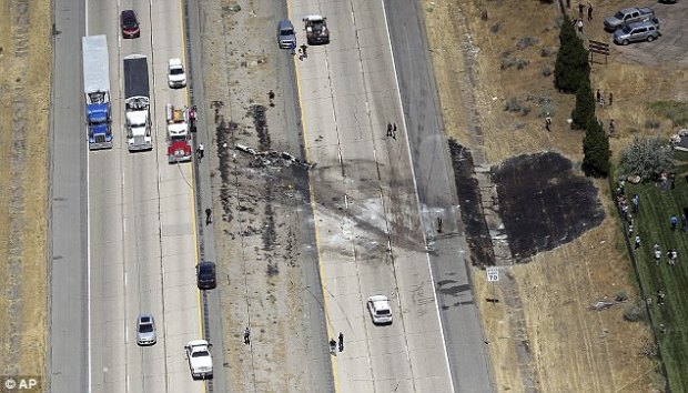 A small plane crashed after it took off from a nearby municipal airport on Interstate 15 in Riverdale, Utah