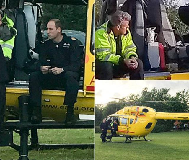Prince William Hands Over After Final Air Ambulance Shift Daily Mail Online