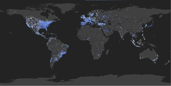 Geo-locations of Twitter messages containing 'Gangnam Style' showedhow social internet phenomenons spread like wildfire discovered the dispersion mimics the infectious diseases of the middle ages