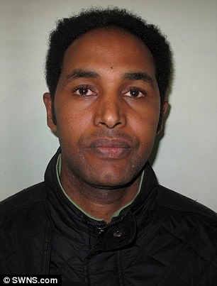 Samson Haile, 32,who sexually assaulted a female customer in the back of his cab. He was jailed for eight months