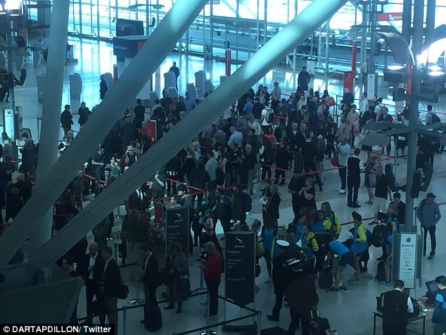 Long queues and waits were expected following a thwarted alleged terror threat on Saturday