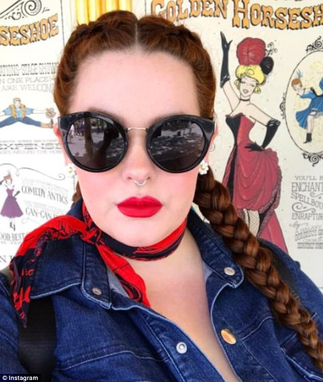 Standing tough: Tess Holliday, 32, revealed she was being harassed by a cruel troll on an online shopping platform