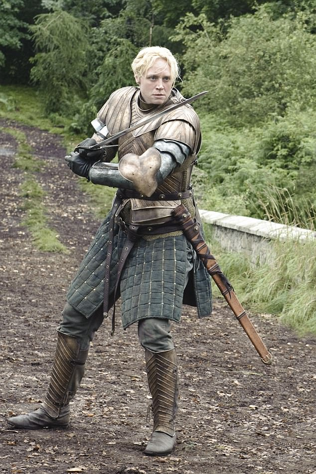 Similarities to the character:It was not until friends of hers told her about the character Brienne in the George RR Martin books that Gwendoline managed to get her big break (pictured in Season 3)