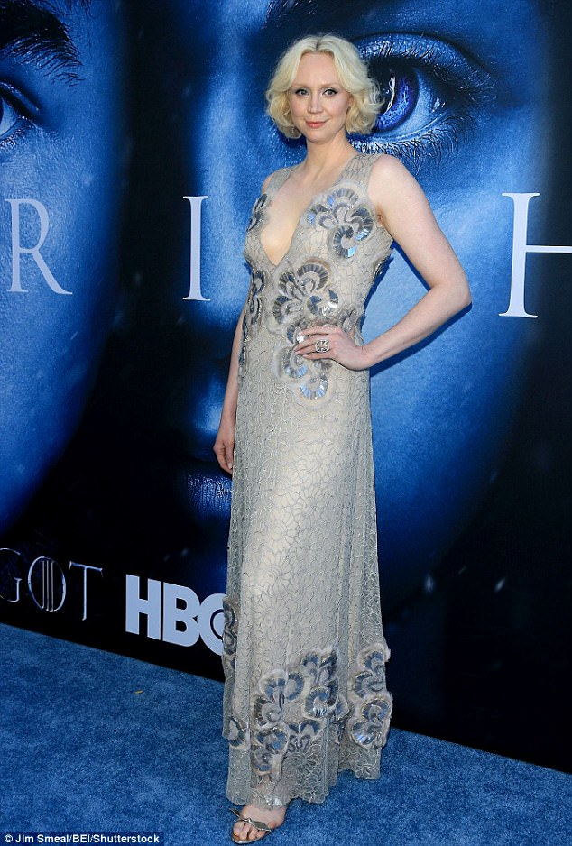 Cult status:Gwendoline Christie, 38, (here earlier this month at the season premiere of Game Of Thrones) has revealed how she landed her role as Brienne of Tarth in the fantasy series