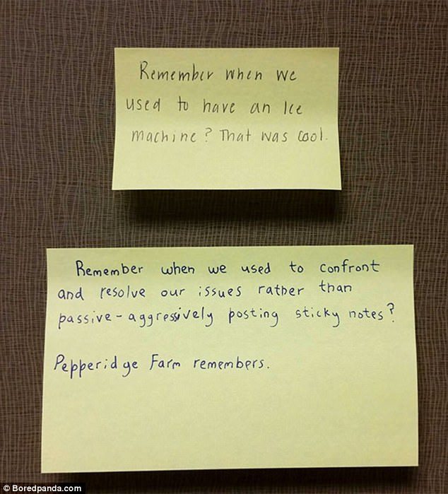 It seems that this office doesn't take kindly to passive aggressive post-it notes