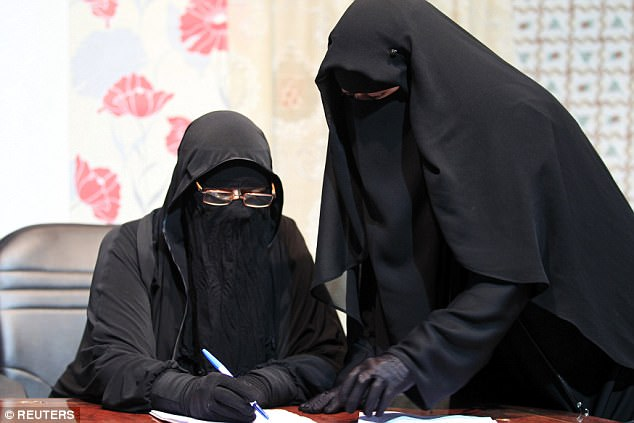 It comes after police figures revealed Islamophobic crimes in Greater Manchester increased by 500 per cent after the bomb attack in the city (stock image of the niqab)