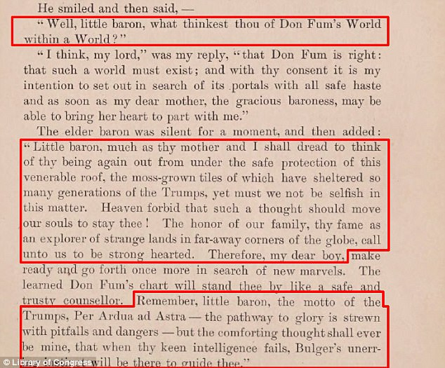 'The pathway to glory is strewn with pitfalls and dangers.' The Trump family motto written in the late 1800s by American author Ingersoll Lockwood