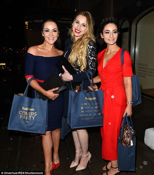 Alana (centre) still keeps in touch with her fellow contestants from The Apprentice such as Grainne McCoy (left) and Frances Bishop (right)