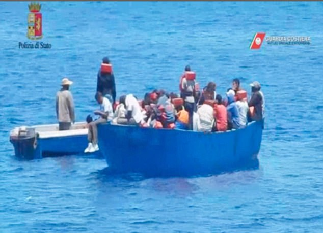 The images emerged after Italian authorities carried out their first seizure of a rescue boat on suspicion of aiding illegal immigration