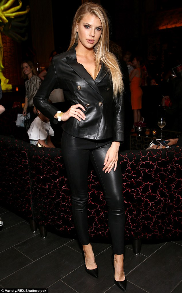 Charlotte McKinney In Leather Outfit At Variety Bash Daily Mail Online