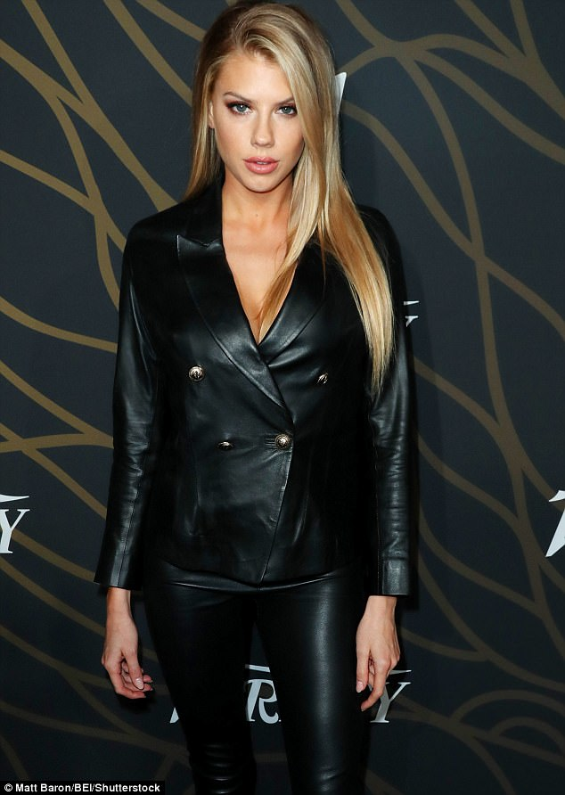 Charlotte McKinney In Leather Outfit At Variety Bash