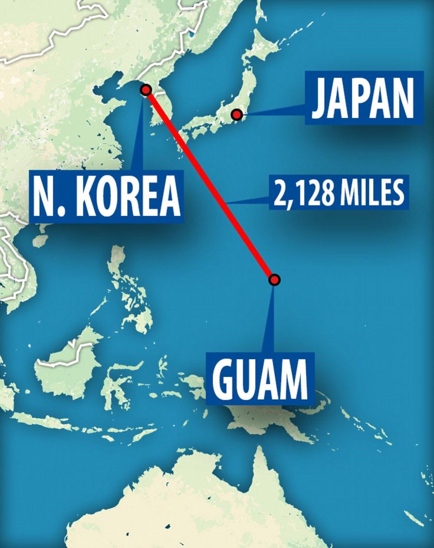 """Guam, que se conoce como la """"punta de la lanza"""", es el hogar de miles de miembros de servicio estadounidense y sus familias en la base aérea de Andersen y la base naval de Guam"""