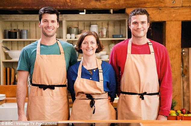 The Herbert family:Charlie, 32, and brother Archie, 23, join their sister-in-law Anna, 38, whose husband Tom is one half of TV chefs The Fabulous Baker Brother