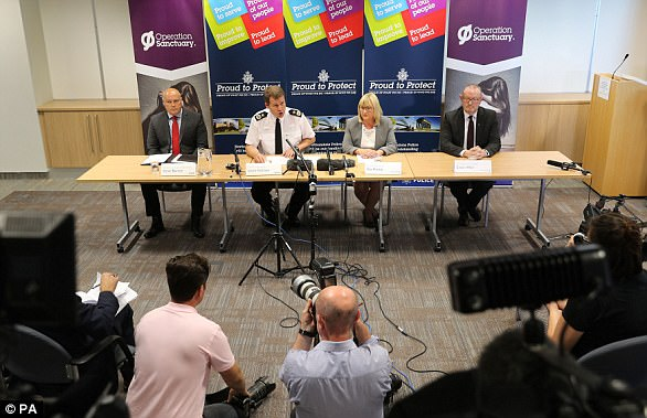 Chief Constable Steve Ashman (second left) said strong punishments are required