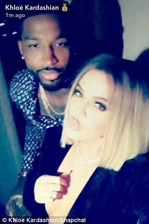 It started with a kiss: The 33-year-old's boyfriend, professional basketball player Tristan Thompson, planted a smooch on her lips during her Snapchat