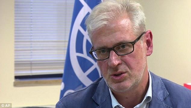"""Laurent de Boeck, jefe de la misión de la OIM en Yemen, dijo que """"demasiados jóvenes"""" están pagando contrabandistas con la esperanza de un """"futuro mejor"""""""