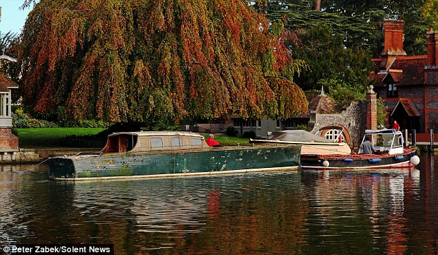 From the 1960s and '70s, she was largely forgotten about as she began rotting away in a boatyard in Hurley, Berks.