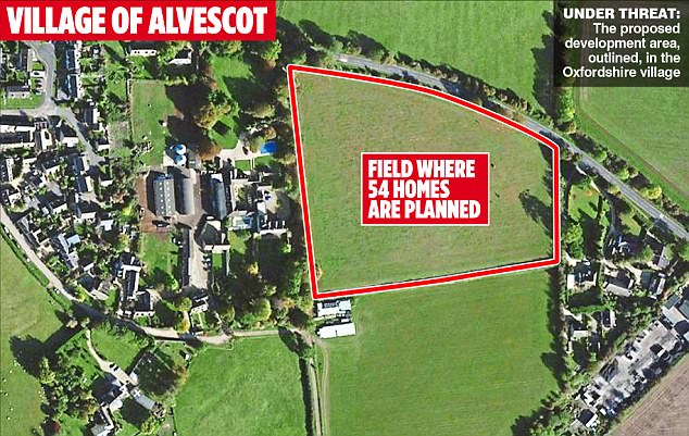 The former X Factor judge's £2.3 million property is located close to fields where builders plan to erect 54 homes in a move that has infuriated locals