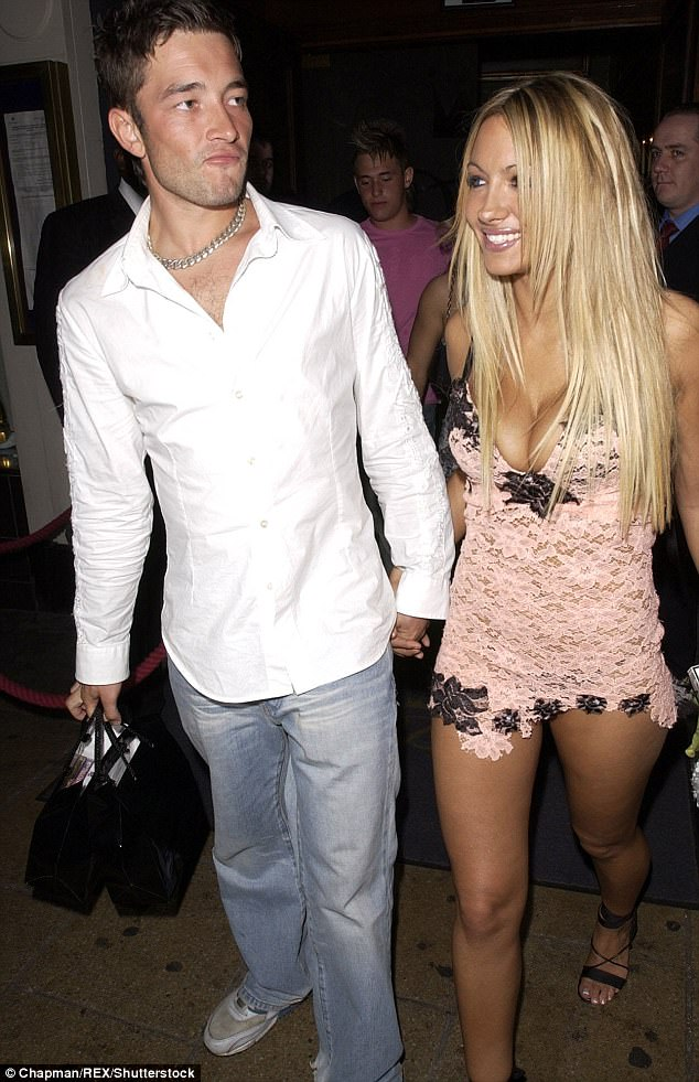 Colourful dating history: Caggie was said to have been embarrassed by Scott's past, as he dated a string of glamour models including Jodie Marsh back in 2004