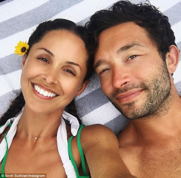 Smitten: Scott later fell for Funda months after his split with Caggie, sharing the first picture of his wife to Instagram in May 2016 - a month after posing with her Made In Chelsea ex Spencer Matthews