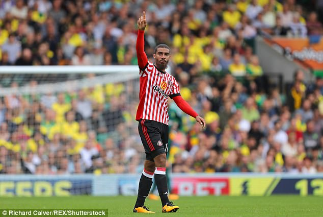 Sunderland striker Lewis Grabban celebrates after opening the scoring against his former side