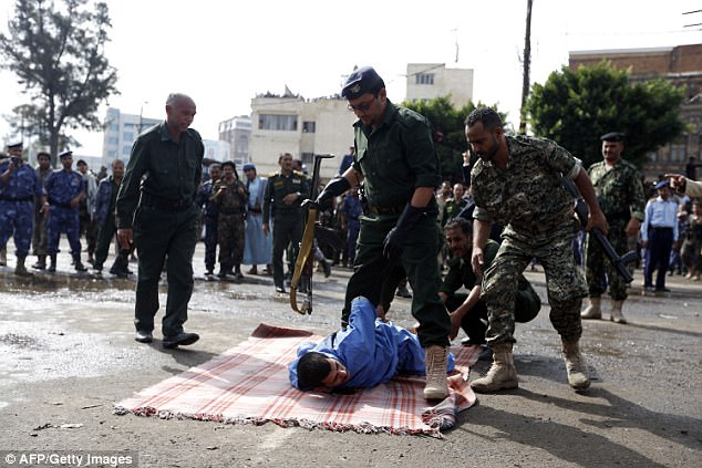 Military rule: This is the second public execution for a similar crime in Sanaa in recent weeks