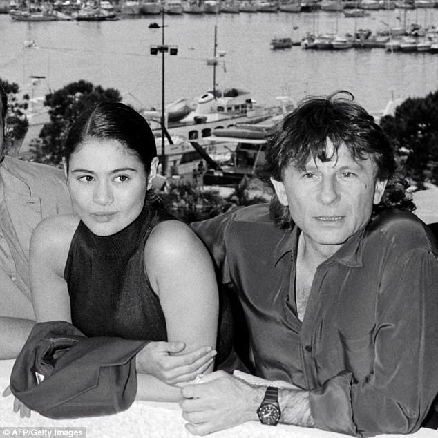 The actress, Lewis, is seen above with Polanski prior to the presentation of the film Pirates during the Cannes Film Festival in 1986
