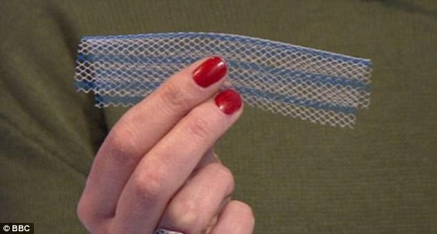 Vaginal mesh implants (pictured) have left women wheelchair bound and unable to have sex