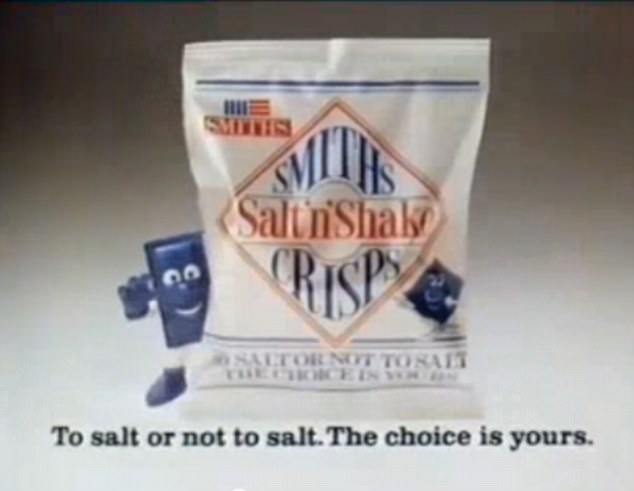 Men and women have been taking a trip down memory lane by sharing pictures of their favourite vintage snacks online - including the classic Smiths Salt 'n' Shake Crisps that came with a handy little blue sachet of salt