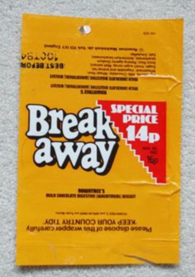 Launched in 1970, Breakaway, a biscuit and chocolate treat, was the perfect snack to complement a cup of tea