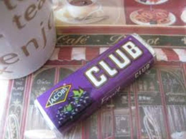 Every child would fill their lunchbox with club bars in a variety of flavours - including fruit, orange and mint - and the Jacobs treats are so popular that they're still on sale today