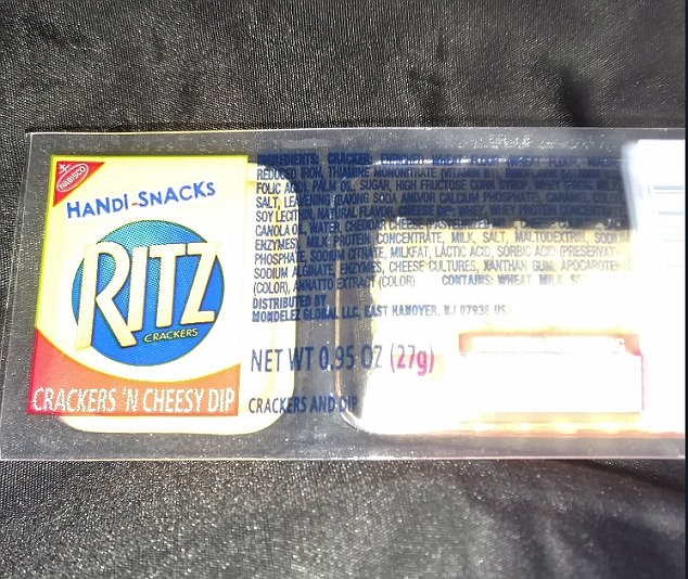 Ritz crackers 'n cheesy dip packs, a savoury biscuit with a gooey cheese dip, were the go-to snack of choice in the 90s