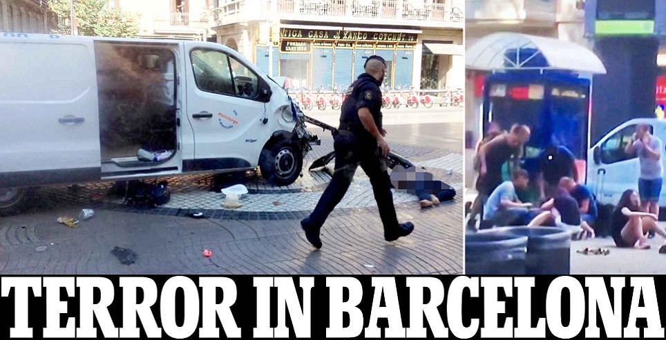 Barcelona crash: Van ploughs into people in Las Ramblas