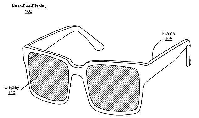 Pictured is a design Facebook previously patented for a device it describes as being a 'near-eye-display' which is likely the beginning stages of its AR glasses.