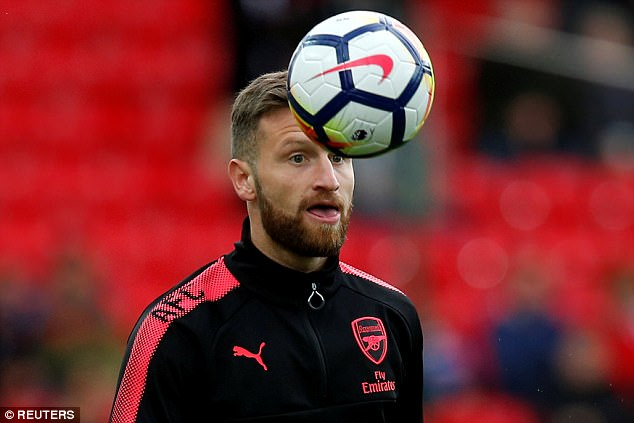 The Gunners only signed Mustafi last summer for a £35million transfer fee