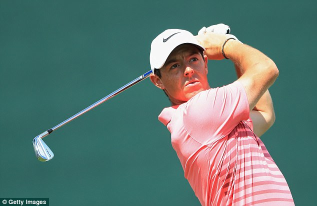 Rory McIlroy bettered his opening round, sinking three birdies on his way to round of 68