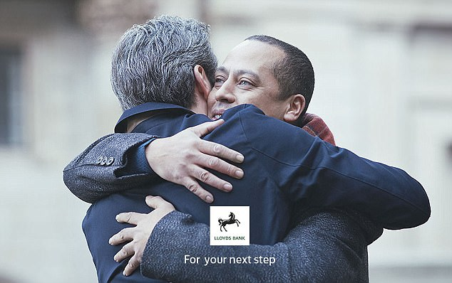 A recent advert by Lloyds Bank featured a same-sex couple's proposal (pictured)