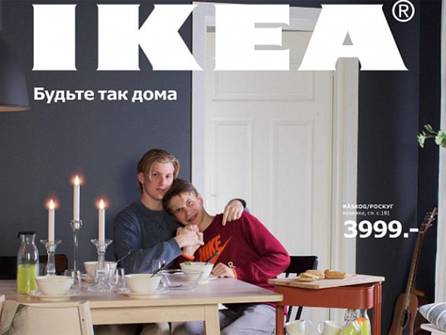Ikea used a picture of a gay couple to promote their 'all homes are created equal' campaign