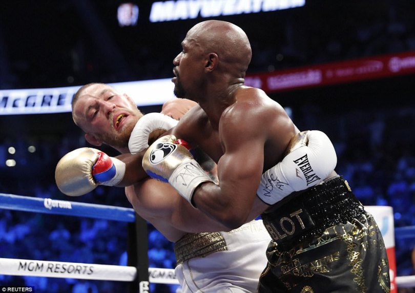After a quiet first three rounds from Mayweather, the American started to pick out shots and McGregor's defence weakened.