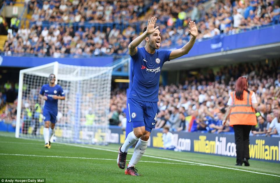 Image result for Cesc Fabregas 2-0 Everton